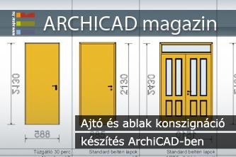 Ajt� �s ablak konszign�ci� k�sz�t�s ArchiCAD-ben