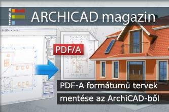 PDF/A form�tum� tervek ment�se az ArchiCAD-b�l