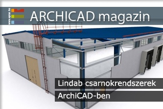 Lindab csarnokrendszerek ArchiCAD-ben