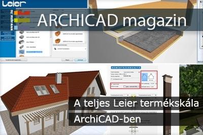 A teljes Leier term�ksk�la ArchiCAD-ben