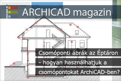 Csom�ponti �br�k az �pt�ron - hogyan haszn�lhatjuk a csom�pontokat ArchiCAD-ben?