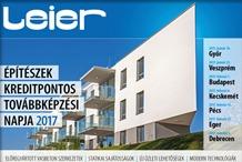 Leier - Építészek kreditpontos továbbképzési napja 2017