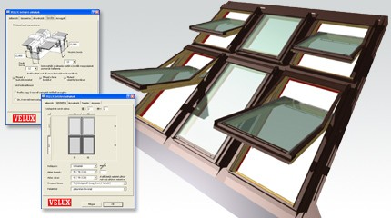 Velux Accessories for CAD Software