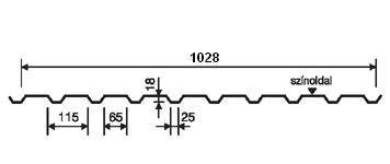 Lindab Coverline LVP 20 - Oldalfalprofil